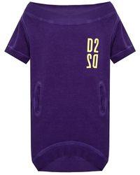 DSquared² Trainingsbroek Met Logo - Paars