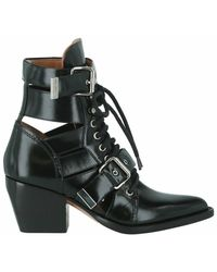 Chloé Rylee Cutout Ankle Boots - Zwart