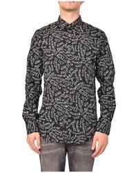John Richmond Camicia Loa Con Stampa - Zwart