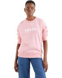 Levi's Graphic Standard Crew Sweatshirt - Roze