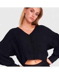 Alix The Label Loose buttoned blouse - Nero