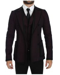 Dolce & Gabbana Stretch Blazer - Zwart