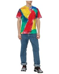 Tigran Avetisyan Multicolor Painted T-shirt - Rosso