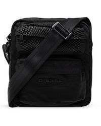 DIESEL Shoulder Bag With Logo - Zwart