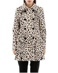 Dolce & Gabbana Animalier Faux Fur Coat - Naturel
