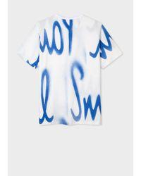 Paul Smith Camiseta con estampado de espray Blanco