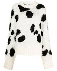 The Attico Sweater 213wck06 - Wit