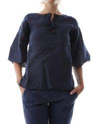 40weft Gemma 6442 Shirt - Blauw