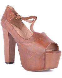 Jeffrey Campbell Peep toes shoes Marrón