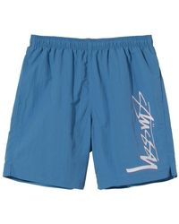 Stussy Swimming Trunks - Blauw