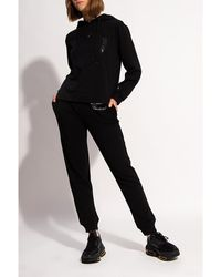 Moschino Sweatpants with logo Negro