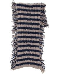 Massimo Alba Bicolor Striped Scarf - Grijs