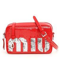 Miu Miu Sequins Bag - Rood