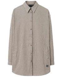 Brixtol Textiles Elba Small Check Shirt - Naturel
