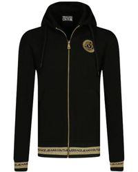 Versace Jeans Couture Vest Met Capuchon Goud B7gwa7tq30318k42 - Zwart