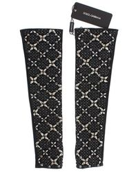 Dolce & Gabbana Gants en cristal clair - Marron