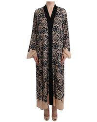 Dolce & Gabbana Lace Cape Jurk - Zwart