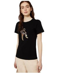 Liu Jo Ca0199 T5884 T Shirt And Tank Women Nero - Zwart