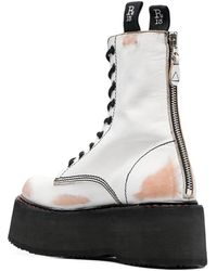 R13 Doubel Stack Lace-Up Boots Blanco