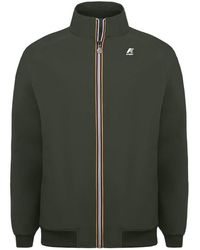 K-Way Leo Bonded Jacket Short - Groen