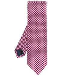 Ferragamo Patterned tie - Rouge