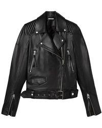 Love Moschino Janey leather biker jacket - Schwarz