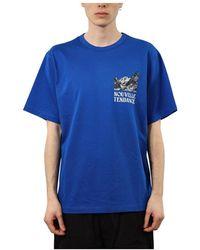 Juun.J T-shirt Con Stampa - Blauw