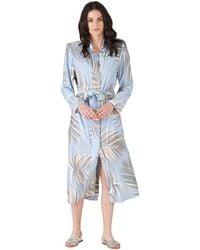 Silvian Heach Spolverino lungo con cintura Long duscoat with belt - Blu