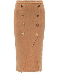 Balmain - Skirt With Vent - Lyst