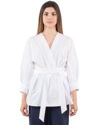 Bagutta Camicia Kimono - Blanc