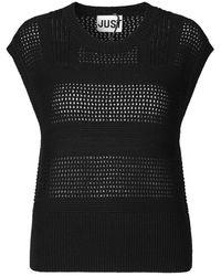 Just Female Seen Knit Vest - Zwart