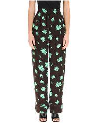 Ganni Printed Pajamas Trousers - Zwart
