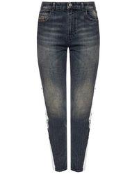 DIESEL - 'babhila-high-sp' Side Streep Jeans - Lyst