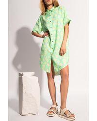 Holzweiler Floral dress - Vert