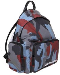 DSquared² Backpack in camouflage fabric Azul