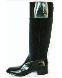BCBGMAXAZRIA Leather Knee High Lorraine Boots Negro