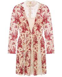RED Valentino Floral Motif Dress - Naturel