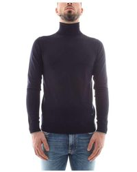 Armani Jeans High Neck Jersey - Bleu