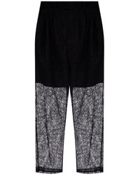 MSGM - High-waisted lace trousers - Lyst