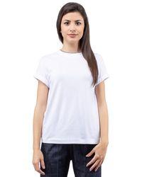 Brunello Cucinelli - T-shirt girocollo monile - Lyst