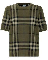 Burberry Wells T-shirt - Groen