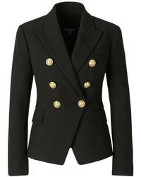 Balmain Double Button Blazer - Zwart