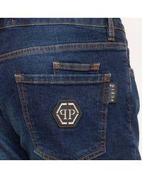 Philipp Plein - Super Straight Cut Istitutional Jeans Azul - Lyst