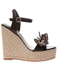 DSquared² Riva Wedge Sandals - Zwart