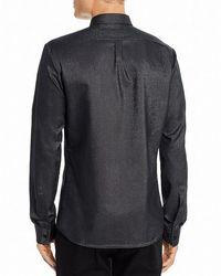 Philippe Model Shirt Button Down Slim Fit Metallic Negro