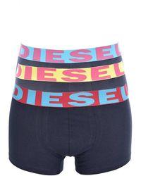 DIESEL Tripack boxers stretch - Bleu