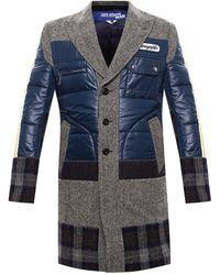 Junya Watanabe Patched Coat - Grijs