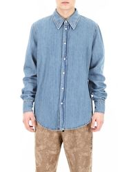 Calvin Klein Jaws Denim Shirt - Blauw