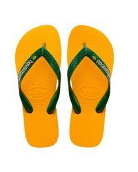 Havaianas Brasil Logo Flip Flops - Oranje