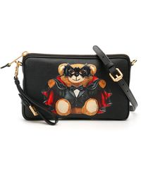 Moschino Bat Teddy Bear Crossbody Bag - Zwart